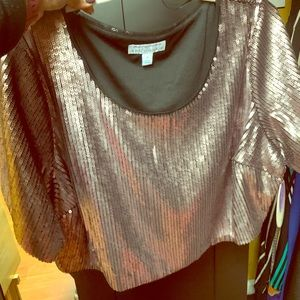 Sequence crop top! Rose gold color